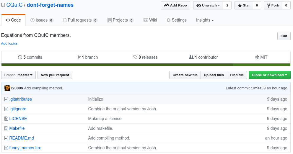 GitHub Repository Interface